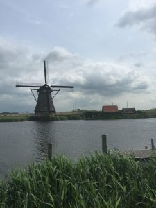 Kinderdijk, which means children's dike in Dutch.
